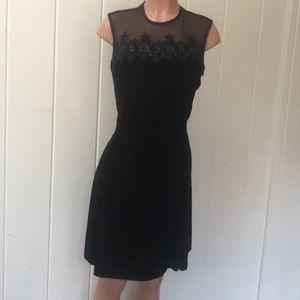 Black velvet dress by Scott McClintock